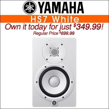 Yamaha HS7 White Powered Studio Monitor