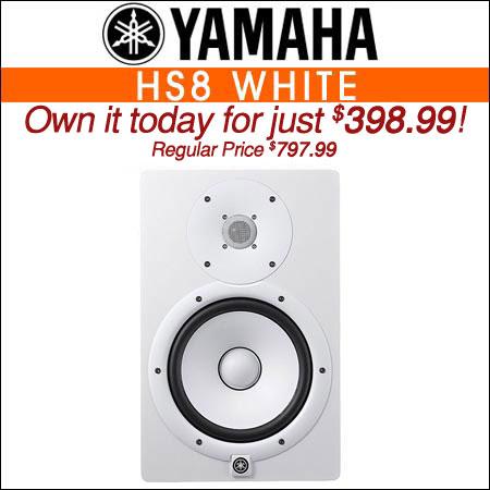 Yamaha HS8 White Powered Studio Monitor