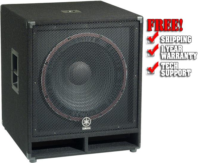 Yamaha sw118v for Yamaha dj speaker