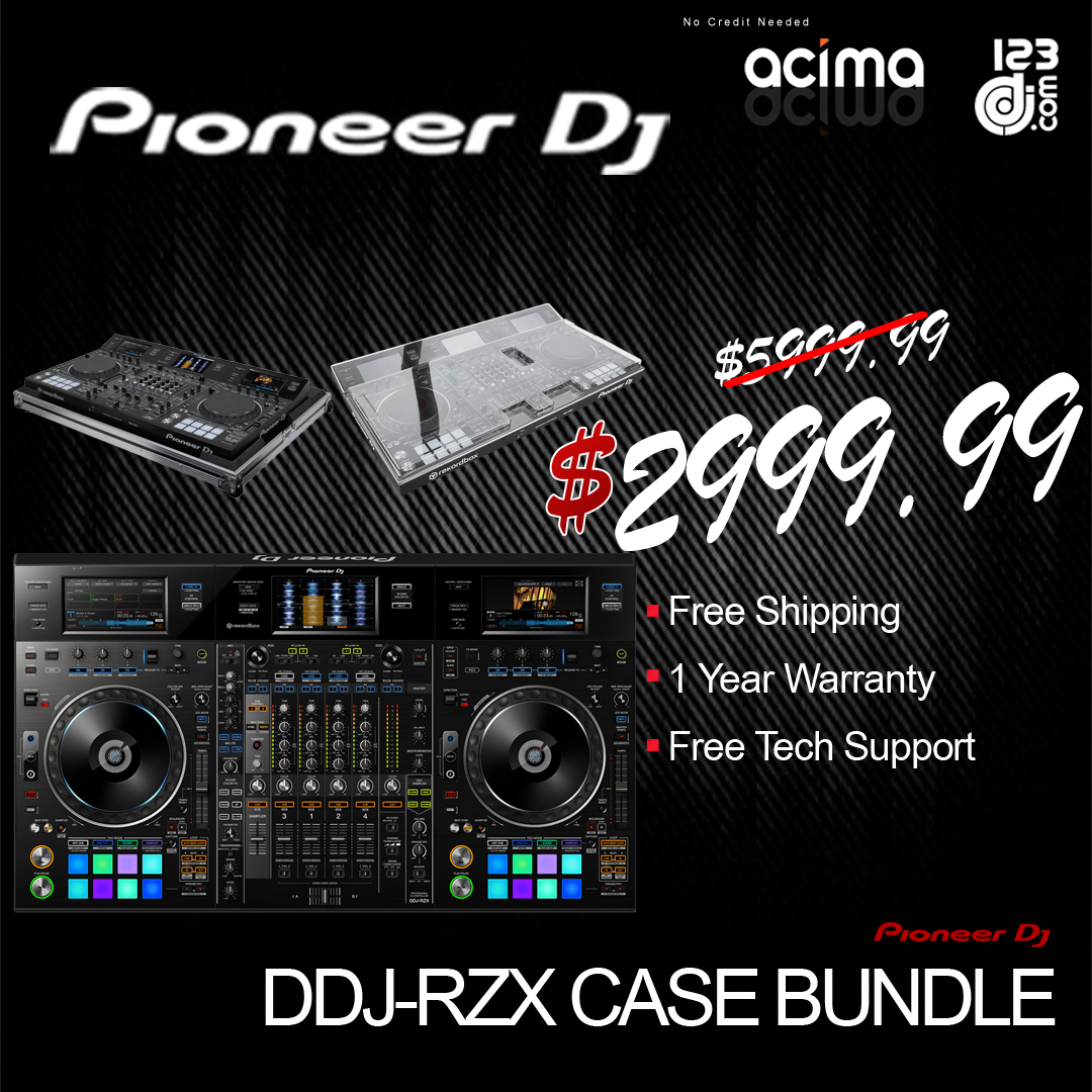 PIONEER DJ DDJ-RZX REKORDBOX CONTROLLER WITH FREE DECKSAVER + FLIGHT CASE BUNDLE
