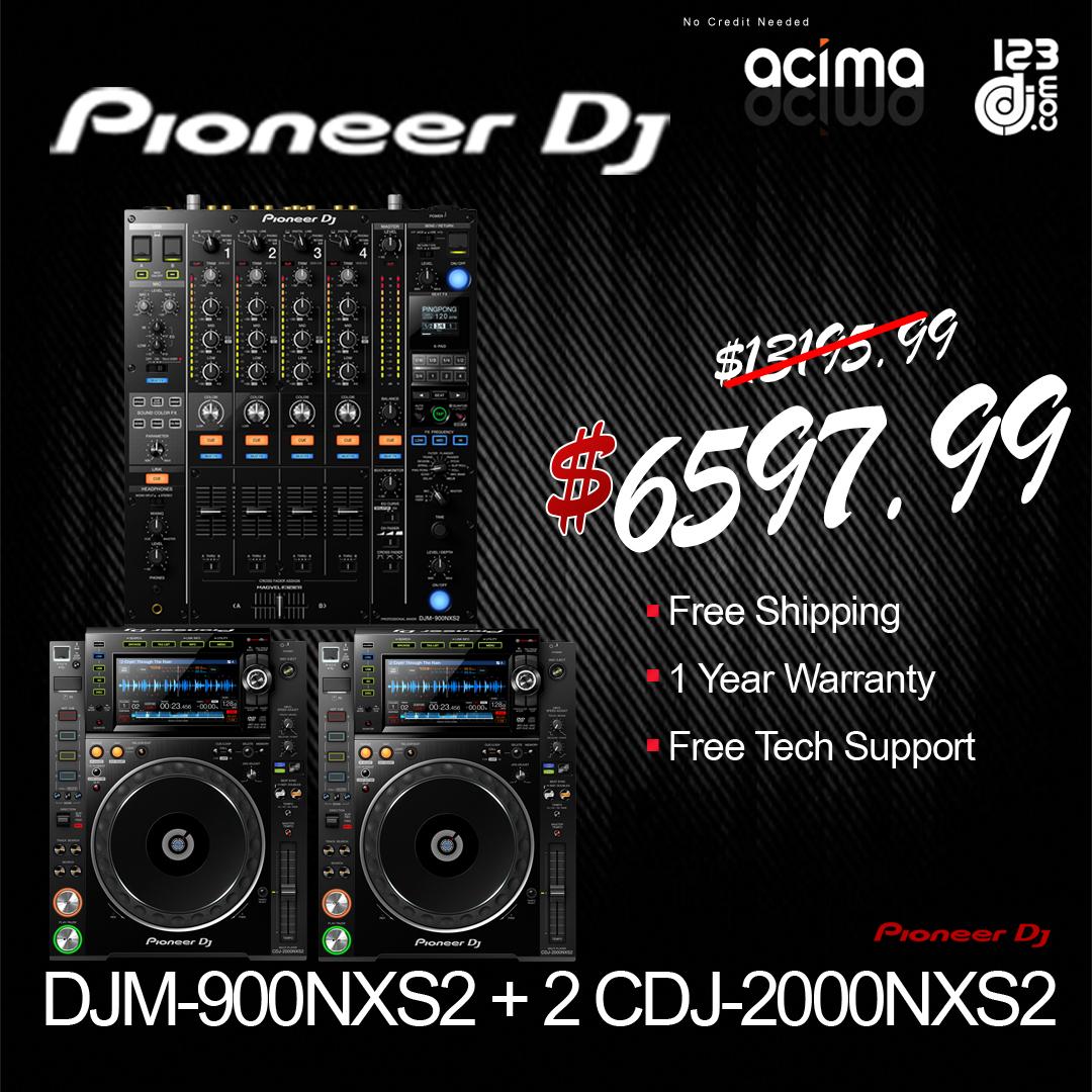 PIONEER DJ DJM-900NXS2 + 2 CDJ-2000NXS2 COMPLETE SYSTEM