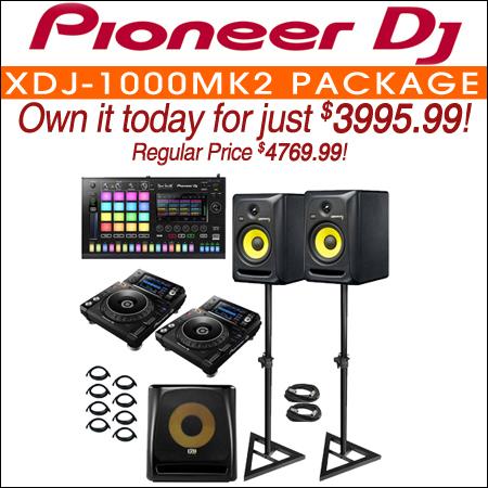 Pioneer XDJ-1000MK2 with Toraiz SP-16 sampler and KRK Studio Monitors DJ Package