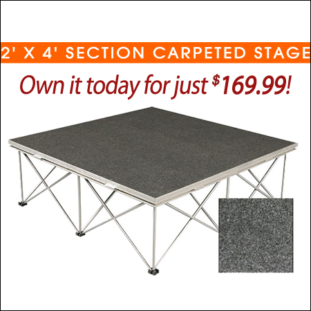 2' x 4' Section Carpeted Stages
