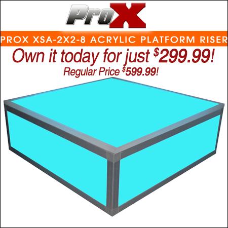 ProX XSA-2X2-8 Acrylic Platform Riser