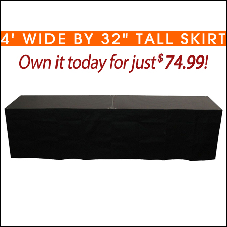4' Wide by 32inch Tall Skirt