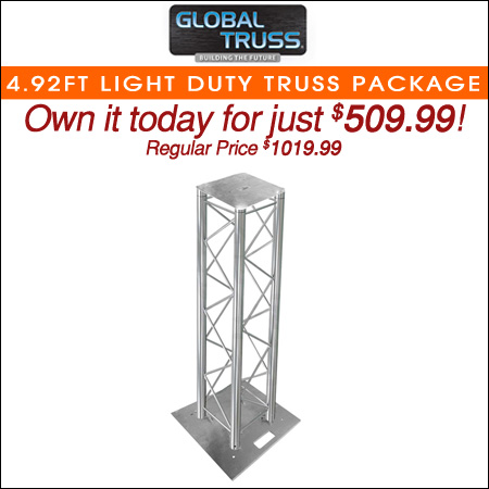 Global Truss 4.92FT Light Duty Truss Lighting Totem Kit Package