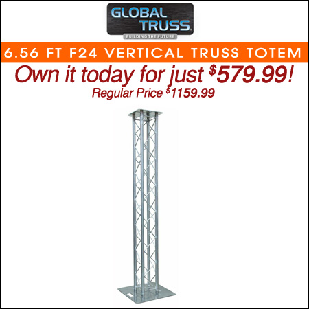 Global Truss 6.56 Ft F24 Vertical Truss Totem