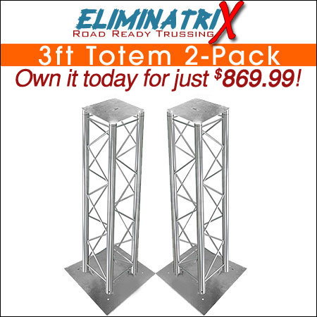 Eliminatrix 3FT Totem 2-Pack
