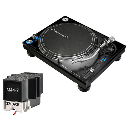 Pioneer Plx 1000 Shure M44 7 Needle Dj Turntable Dj