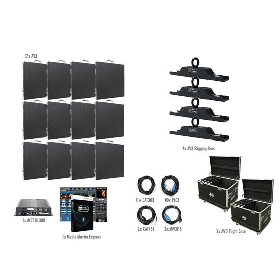 ADJ AV3 4X3-Touring Indoor 12 LED Panel Video System