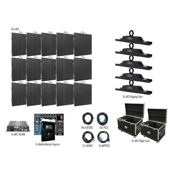 ADJ AV3 5X3-Touring Indoor 15 LED Panel Video System