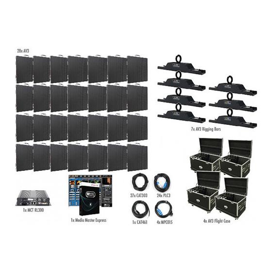 ADJ AV3 7X4-Touring Indoor 15 LED Panel Video System