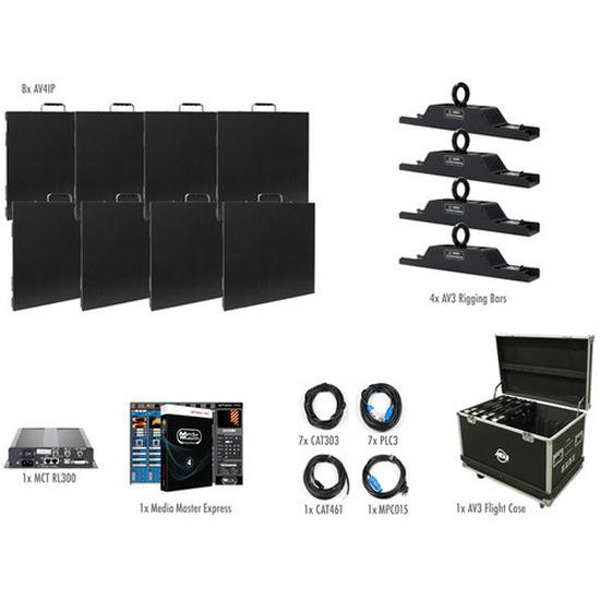 American DJ AV4IP Video Panel System (8 Panels)